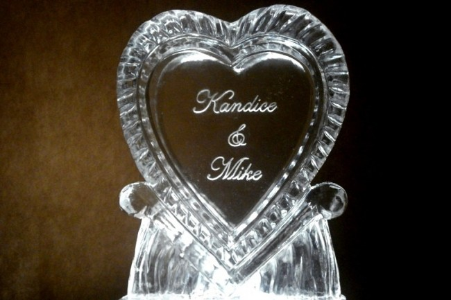 Victorian Ice Heart with Names