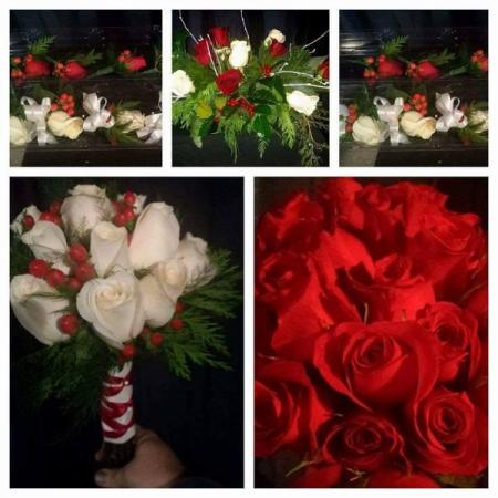 Different Arrangements with a Splash of Red and White