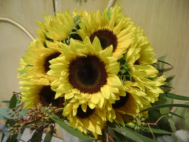 This beautiful sunflower wedding bouquet is perfect for a late summer or