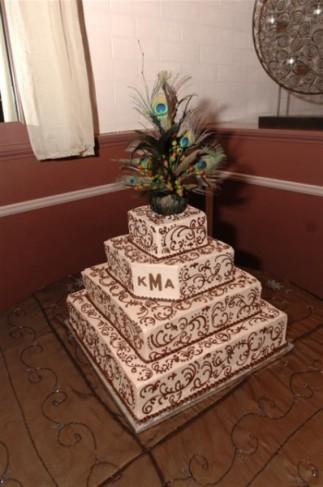 A wedding cake topper like