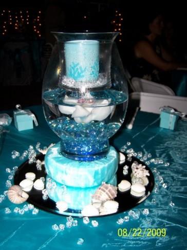 Unique Blue Table Centerpiece