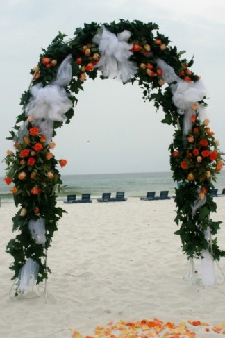 Wedding Arch Decorations on Photo Gallery   Wedding Ceremony Arch Flowers Photo