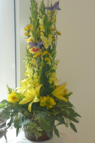 Unique Yellow Centerpiece