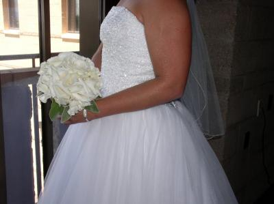 The Bride Holding Her Couture Rose Bouquet