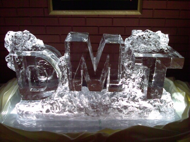 Block Letter Initials Ice Carving