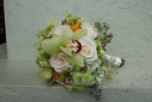 Orchid Rose Wedding Bouquet Share Orchids and roses are a classic pairing
