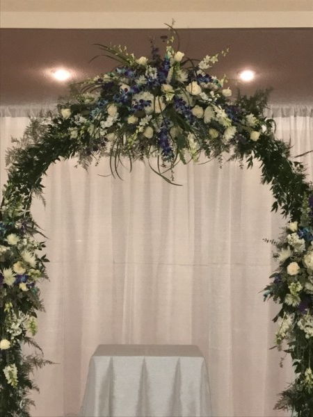 Wedding Ceremony Arch Decorated