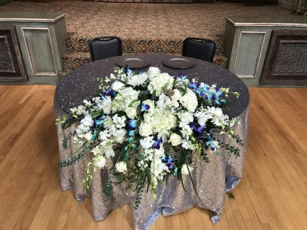 Bride and Grooms Table Decor