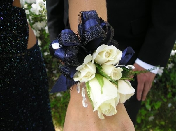 Photo Gallery White Rose Wrist Corsage Photo