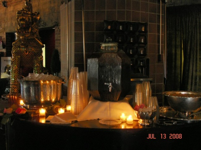 Wedding Party Photo Gallery Candlelit Catering Display Two