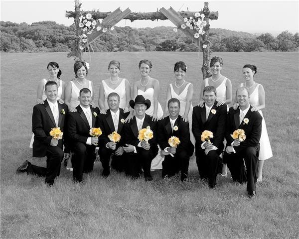 Black White Wedding Photo With Yellow Share