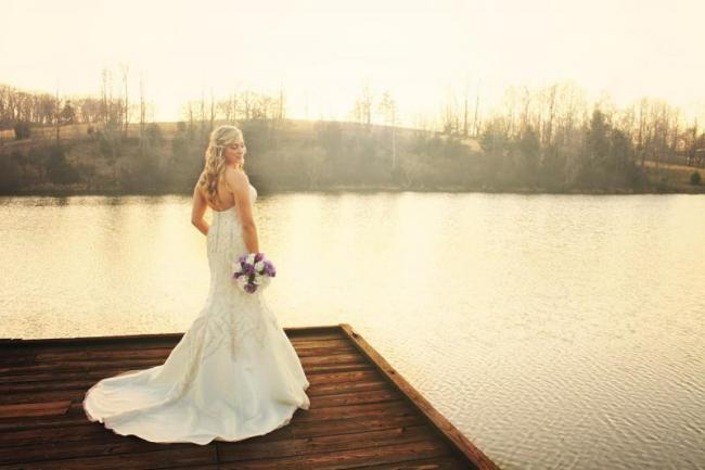 Bride on the dock at Oakhaven.jpg