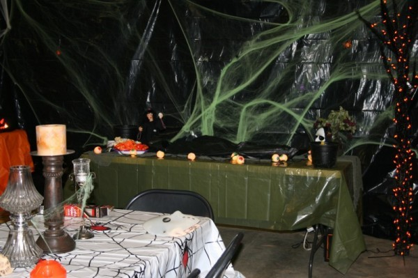 Backyard Halloween Party Ideas Adults : Photo Gallery  Web of Fright Halloween Decorations