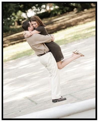 Hugging Engagement Portrait Kenneth Wilks Photography]