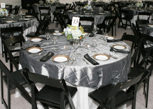 Black And Gray Themed Wedding Reception