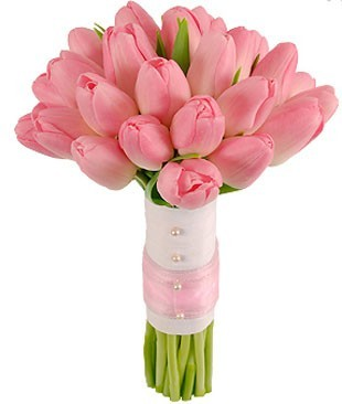 Pretty In Pink Tulip Bridal Bouquet