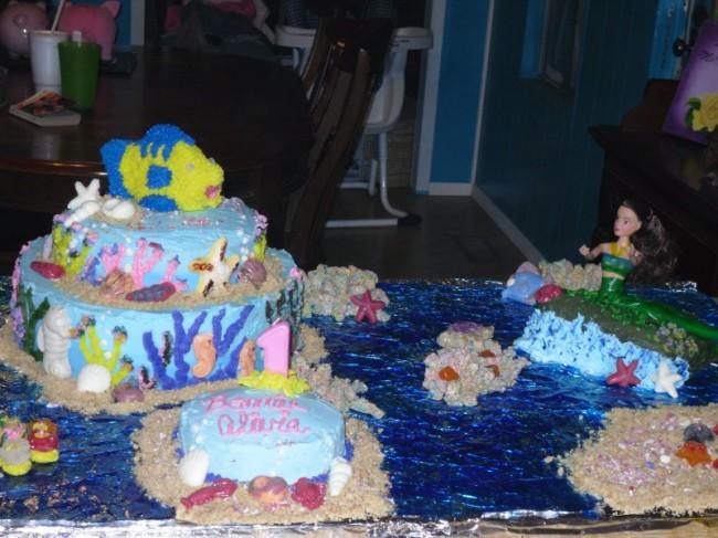 Little Mermaid 1st Birthday Cake Little Mermaid 1st Birthday