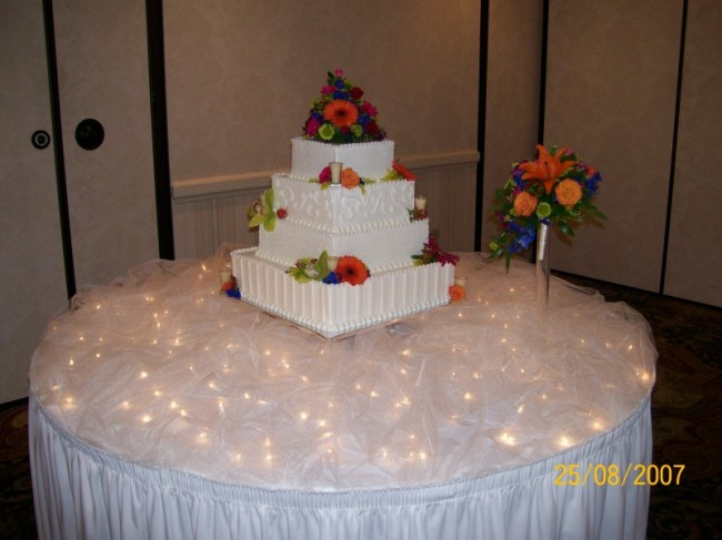 Beautiful Lighted Wedding Reception Table