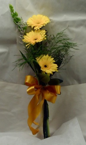Gorgeous Bridesmaid Bouquet with Yellow Daisies