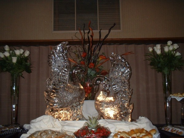 Ice Sculpture Swan Lake