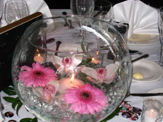 Bubble Ball with Gerbera And Cymbidium