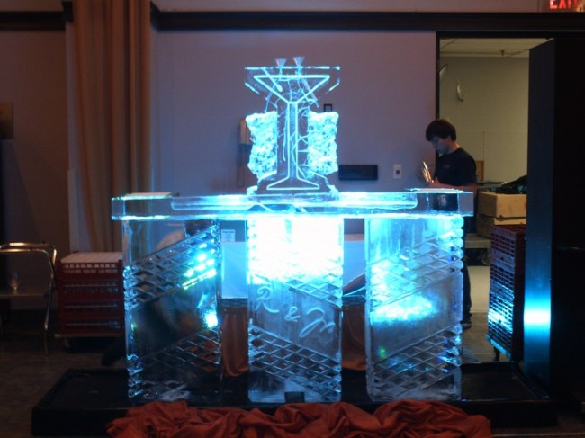 Illuminated Ice Bar