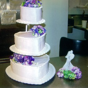 White And Purple Themed Cake