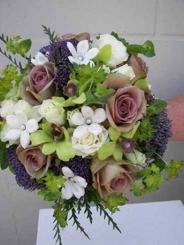 Purple and White Bridal Bouquet personal