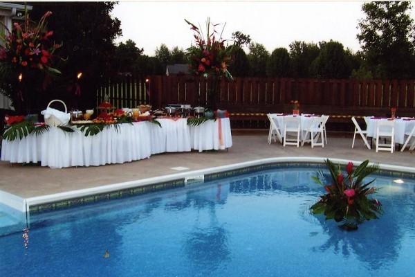Pool Wedding Decoration Ideas: Poolside Wedding Reception Personal