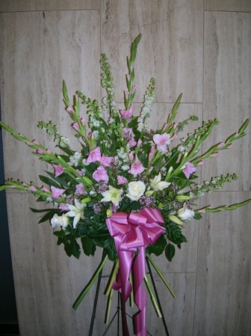 Gladiola Spray With Light Purples