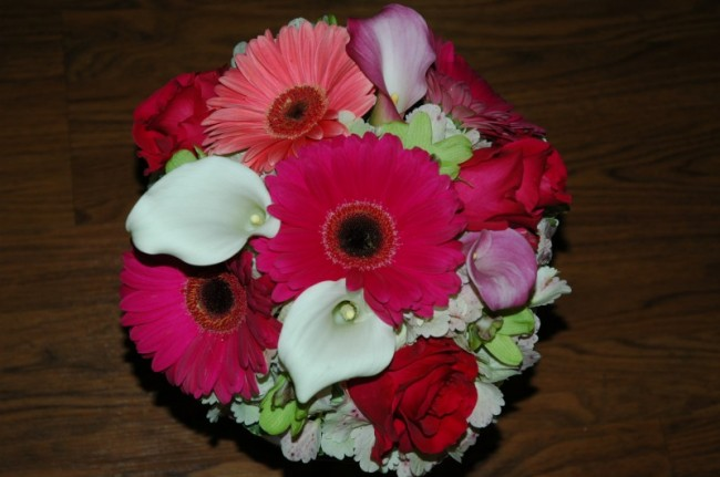 Wedding Party Photo Gallery Hot Pink Bridal Bouquet