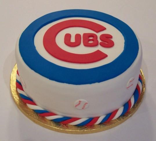 Photo Of Cubs-Fan Cake
