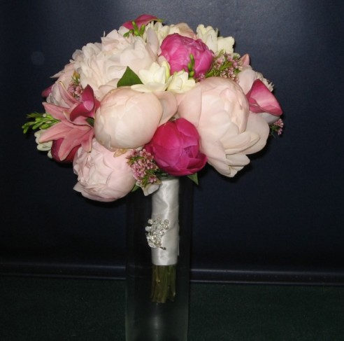 Gorgeous Pink Wedding Bouquet