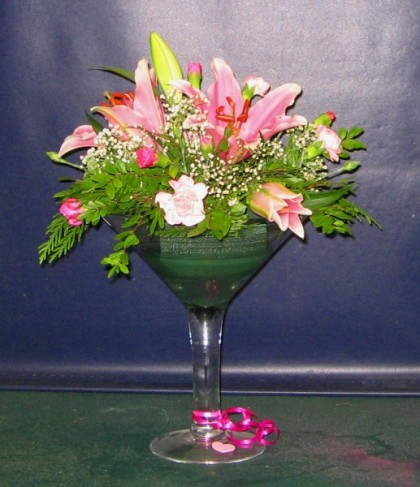 Martini Flower Centerpiece