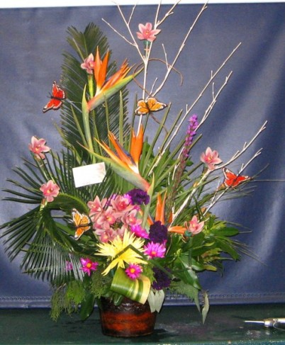 Asian Spring Flower Arrangement