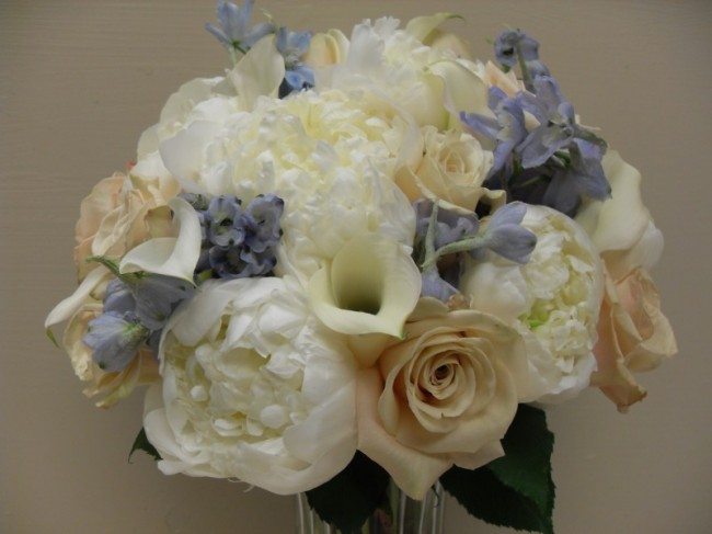 Ivory & Purple Wedding Bouquet