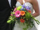 Bright & Exotic Cascading Wedding Bouquet