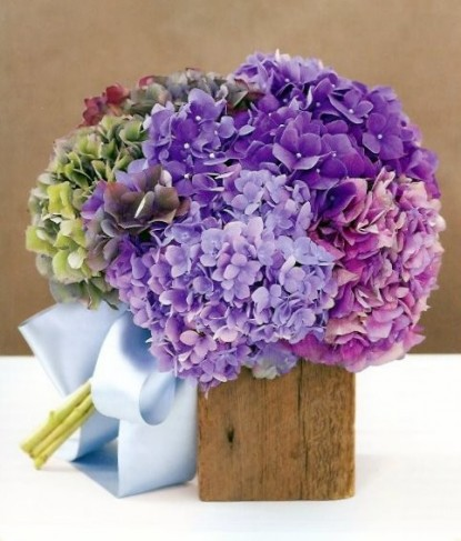 Blue Green and Purple Wedding Bouquet Share