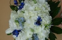 White & Blue Themed Wedding Bouquet