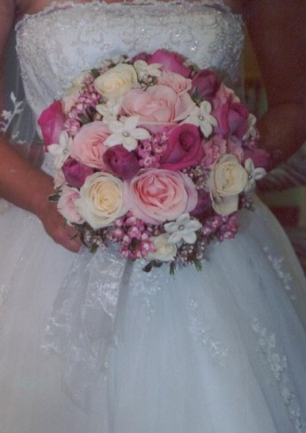 Gorgeous Bridal Bouquet In Pinks