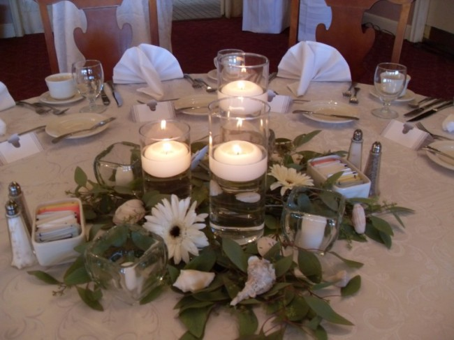 Wedding Party Photo Gallery Floating Candle Centerpieces