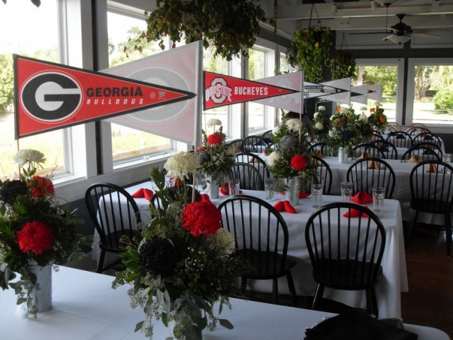 Georgia Bulldogs Reception Decorations