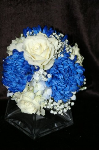Beautiful Blue and White Bridal Bouquet Share