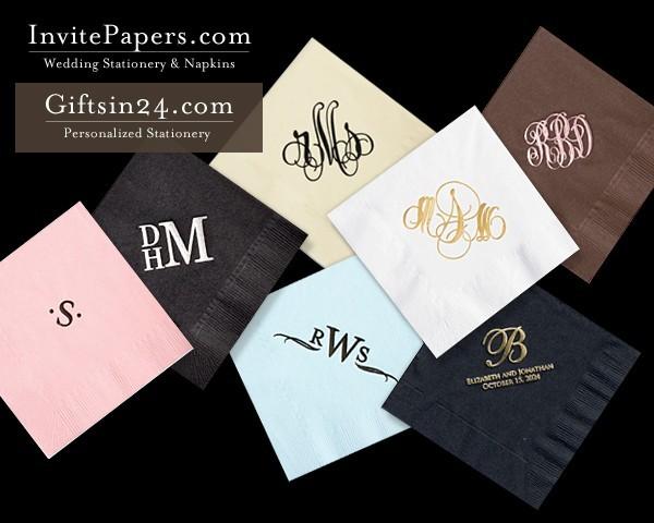Personalized wedding napkins my wedding reception ideas