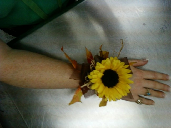 Here is the perfect wrist corsage for a fall wedding or event