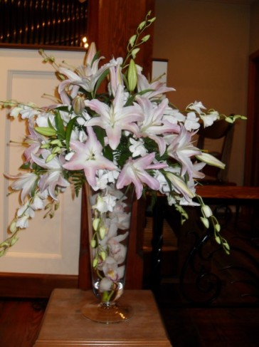 Pink Orchid Flower Arrangement