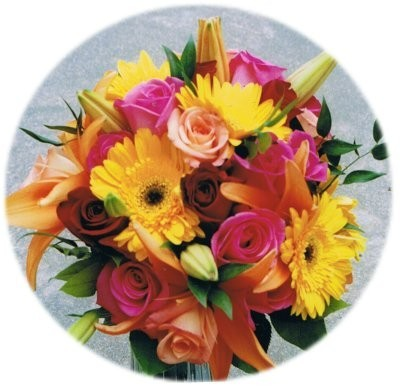 Bright wedding flowers like this would be perfect for a spring or summer