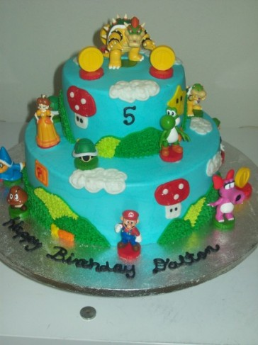 Mario Birthday Cake on Photo Gallery   Photo Of Mario Birthday Cake
