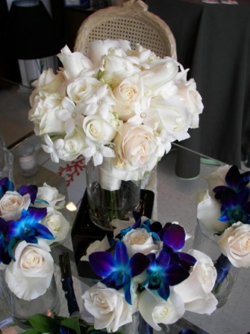Blue and White Bridal Bouquets Personal