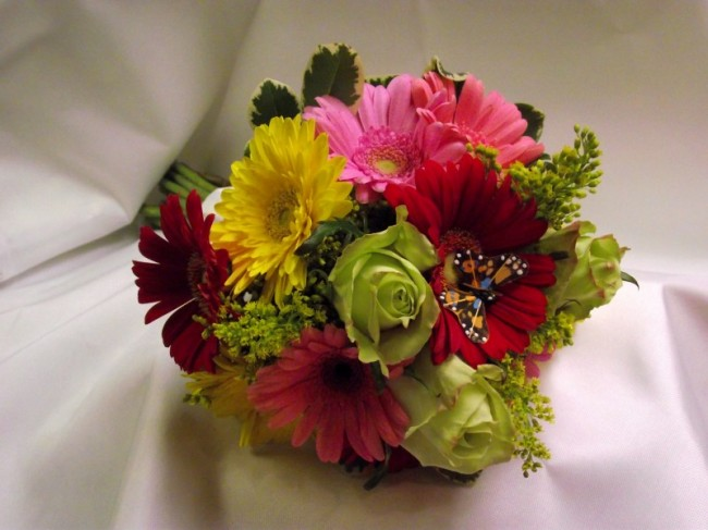 Gerbera Daisies and Roses